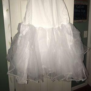 A line wedding gown slip